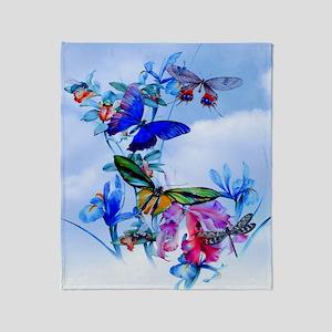 Queen Duvet Take Flight! Butterfly C Throw Blanket