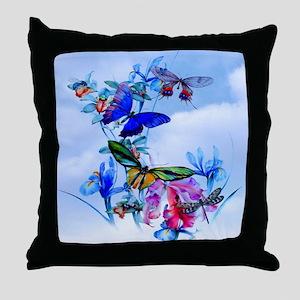 Queen Duvet Take Flight! Butterfly Ca Throw Pillow