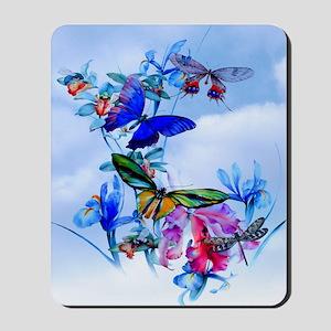 Queen Duvet Take Flight! Butterfly Cattl Mousepad