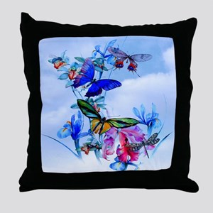 Shower Curtain Take Flight! Butterfly Throw Pillow