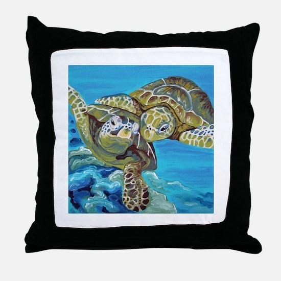 Marine Turtles Throw Pillow