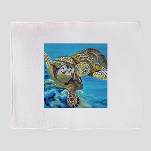 Marine Turtles Throw Blanket