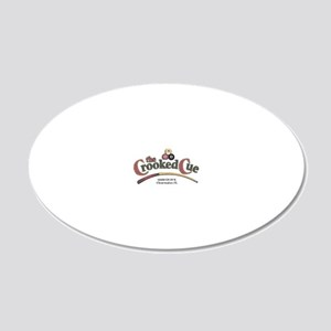 The Crooked Cue 20x12 Oval Wall Decal