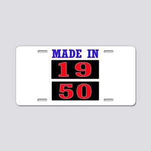 Made In 1950 Aluminum License Plate
