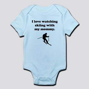 I Love Watching Skiing With My Mommy Body Suit