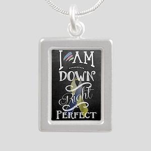 Down Right Perfect RR Silver Portrait Necklace