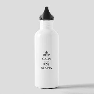 Keep Calm and kiss Alaina Water Bottle