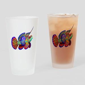 Mandarin Dragonet Fish Drinking Glass