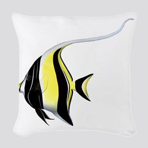 Moorish Idol Woven Throw Pillow