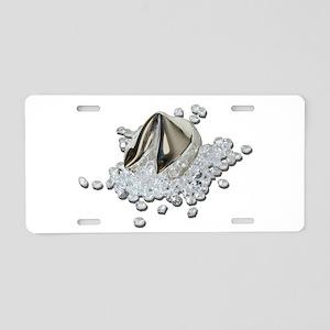 DiamondsSpillFortuneCookie0 Aluminum License Plate