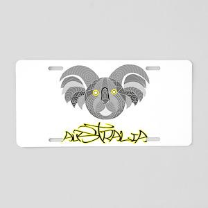 Australian Aboriginal Art - Aluminum License Plate