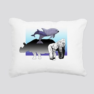EndangeredSpecie Black Rectangular Canvas Pillow