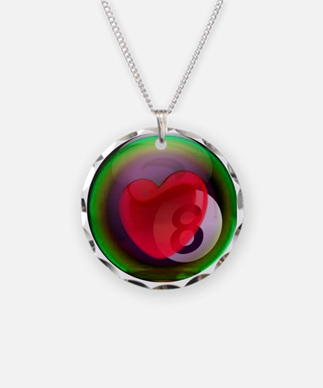 Eightball Heart Necklace
