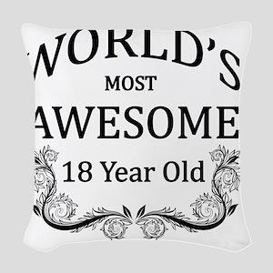 18 Woven Throw Pillow