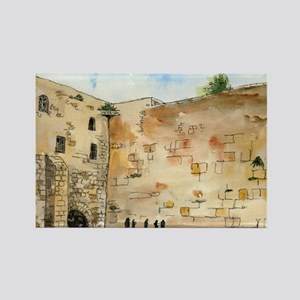Western Wall Rectangle Magnet