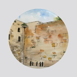 Western Wall Round Ornament