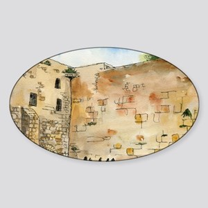 Western Wall Sticker (Oval)
