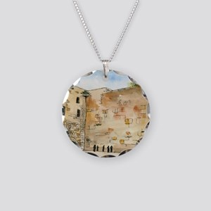 Western Wall Necklace Circle Charm