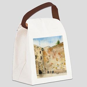 Western Wall Canvas Lunch Bag
