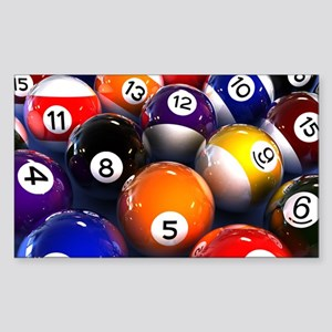 Billiard Balls Sticker (Rectangle)