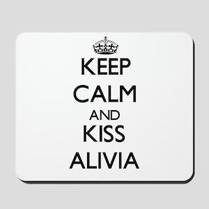 Keep Calm and kiss Alivia Mousepad