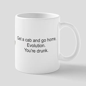 Go home, evolution. You're drunk. Mugs