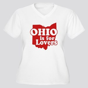Ohio is for Lovers Women's Plus Size V-Neck T-Shir