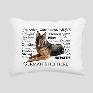 German Shepherd Traits Rectangular Canvas Pillow