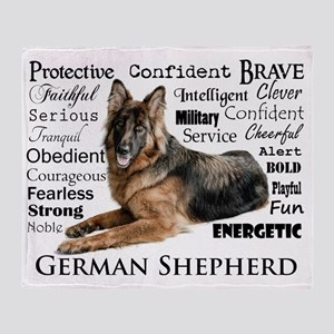 German Shepherd Traits Throw Blanket