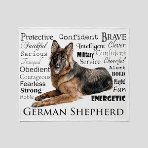 German Shepherd Traits Throw Blanket