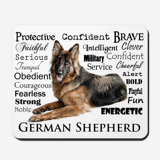 German Shepherd Traits Mousepad