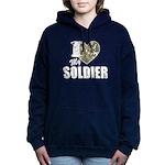 I Heart My Soldier Hooded Sweatshirt