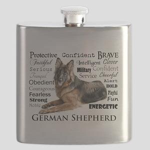 German Shepherd Traits Flask