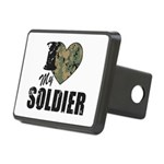 I Heart My Soldier Hitch Cover
