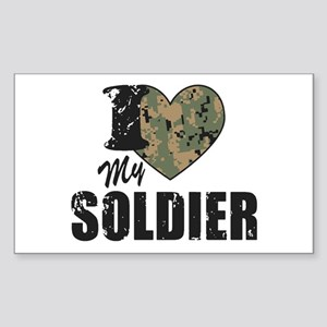 I Heart My Soldier Sticker