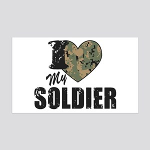 I Heart My Soldier Wall Decal