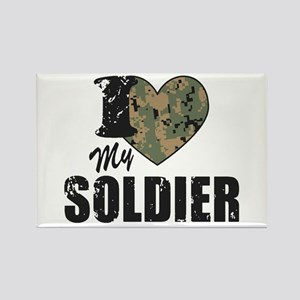 I Heart My Soldier Magnets