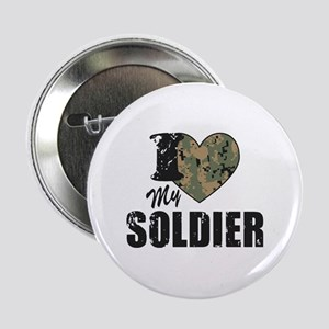 """I Heart My Soldier 2.25"""" Button"""