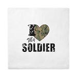 I Heart My Soldier Queen Duvet