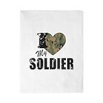 I Heart My Soldier Twin Duvet