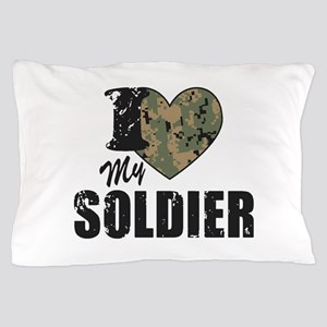 I Heart My Soldier Pillow Case
