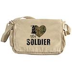 I Heart My Soldier Messenger Bag