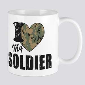 I Heart My Soldier Mugs