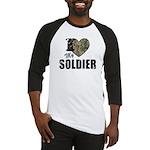 I Heart My Soldier Baseball Jersey