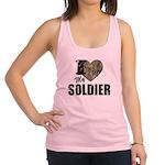 I Heart My Soldier Racerback Tank Top