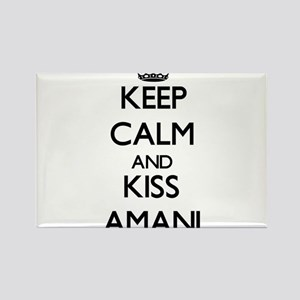 Keep Calm and kiss Amani Magnets