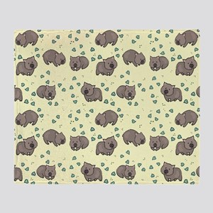 Wombat Throw Blanket