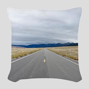 Open Roads Woven Throw Pillow