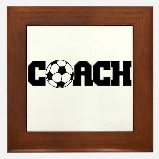 Soccer Coach Framed Tile