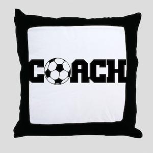 Soccer Coach Throw Pillow